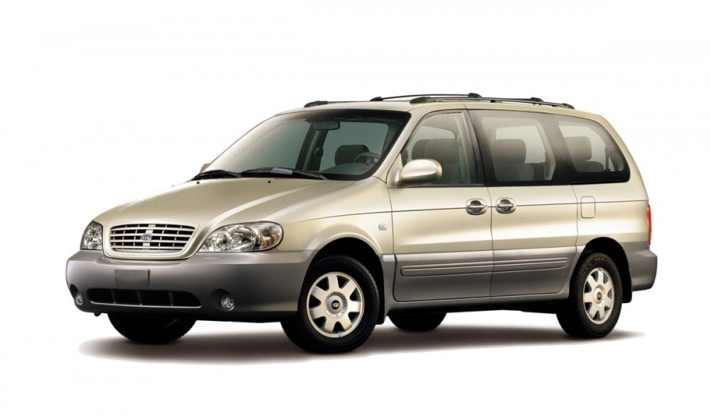 kia carnival minivan mpv 2002 2006 reviews technical data prices. Black Bedroom Furniture Sets. Home Design Ideas