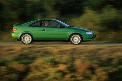 Green Toyota Paseo coupe side