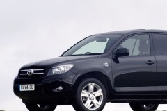 Black Toyota RAV4 side