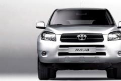 Silver Toyota RAV4 front