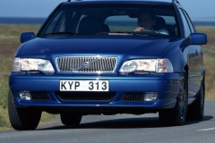 Zila Volvo V70 universāla priekšpuse