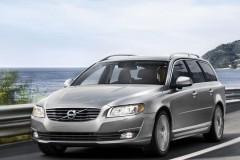 Sudraba Volvo V70 universāla priekšpuse